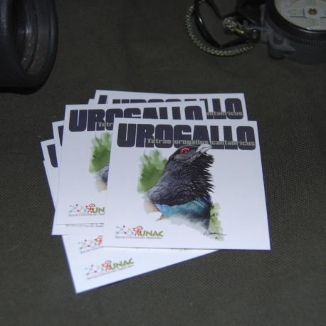 Pack 5 pegatinas Urogallo UNAC